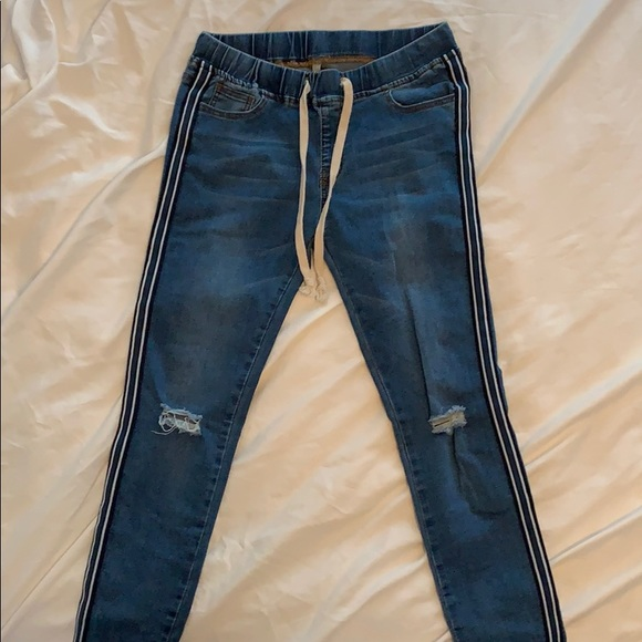 American Bazi Denim - Striped Leg Forever 21 Jeans